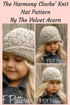 The harmony cloche knit hat pattern by The Velvet Acorn. I just love her patterns! #knitting #knittingpatterns #knithat #hat #ad