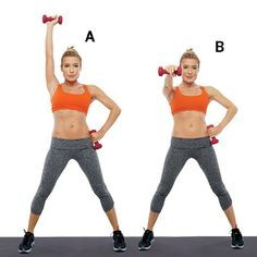 Single-Arm Punch and Jump: Combine these strength training exercises from Tracy Anderson with a cardio routine for strong and sculpted arms. | Health.com