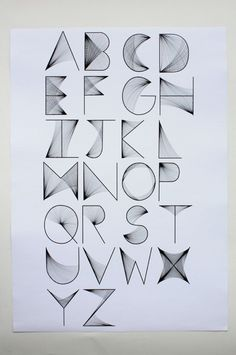 Alphabet: Simple to Try, Place to Fit? Hand Lettering Alphabet, Calligraphy Letters, Typography Letters, Typography Poster, Cool Fonts Alphabet, Creative Lettering, Lettering Styles, Lettering Design, Cool Lettering