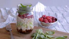 Salade en pot aux épinards et aux framboises | Cuisine futée, parents pressés