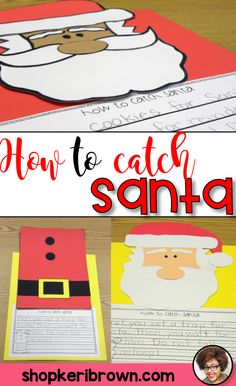 This is a great craft for Christmas. This Santa activity for your primary students will have them engaged as they think of ways to catch, and possibly, keep Santa!  Your students can make Santa's suit or Santa's face to accompany their writing piece. In this resource, you will find a story map, BME organizer, sequencing page, and writing templates for How to Catch Santa. It included full color pictures of how to build Santa.