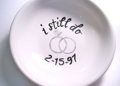 Ring Dish Design Your Own Ring Holder Perfect gift for the bride to be by loveandwhiskers, $37.00.  Anniversary, wedding or Valentine's day gift idea.