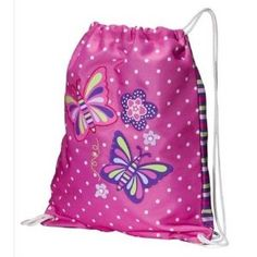 #12  Cute backpack - Pink Butterfly Preschool Sack  #momselect  #backtoschool