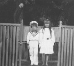 """Here is a photo of Grand Duchess Anastasia Nikolaevna and her brother's hand, circa 1910. All of the Grand Duchesses were very attached to their brother, especially Grand Duchess Anastasia Nikolaevna, who was closest to him in age. Whenever Tsarevich Alexei Nikolaevich was ill, the girls could not hide their concern. """"My pupils betrayed it in a mood of melancholy they tried in vain to conceal. When I asked them the cause, they answered evasively that Alexis Nicolaievich was not well."""""""