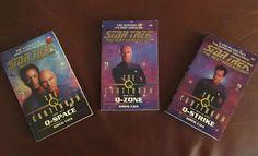 The Q Continuum book series:  Book One: Q-Space Book Two: Q-Zone Book Three: Q-Strike