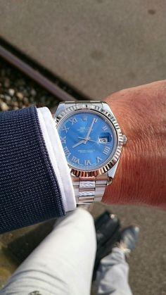 Rolex Datejust 2 Blue Dial Roman