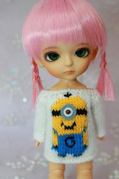 LATI Yellow  Pukifee  Despicable Me  Minion SWEATER  by DoLLYSToRY, $32.00