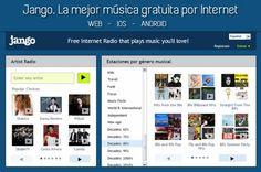 Jango. La mejor música gratuita por Internet vía web, iOS y Android #musicaporinternet