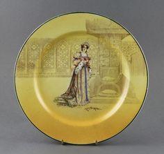 royal doulton | Plate, Royal Doulton, Katherine ; Royal Doulton; 1914; MT1993.72.4