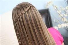 Feather Waterfall braid from cute girls hairstyles Cute Girls Hairstyles, Braided Hairstyles Tutorials, Hairstyles For School, Summer Hairstyles, Easy Hairstyles, Hair Tutorials, Child Hairstyles, Teenage Hairstyles, Hairstyles 2016