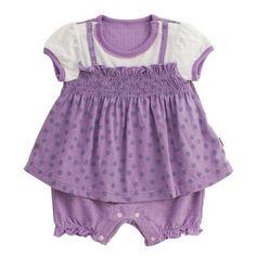 mimiplus レイヤード風パイルロンパース(UVカット加工)のパープル70cm(43・26・8.5)の通販なら【赤すぐnet】/マタニティ・妊婦から赤ちゃん/ベビー服・子供服の通販