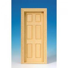 Innentür aus Naturholz (60070) mit 6 Paneelen, komplett mit Innenverkleidung. Abmessungen: 87 x 184 mm (BxH). Ausschnittmaße: 78 x 180 mm.