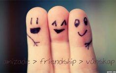 amizade > friendship > vänskap
