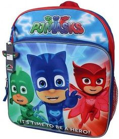Disney Junior PJ Masks Owlette, Gekko and Catboy Its Time To Be A Hero! 14 inch height x 12 inch width x inch Reflective Material Side Mesh Pockets Best Kids Backpacks, Backpacks For Sale, School Backpacks, Pj Masks Games, Birthday Party Games For Kids, 3rd Birthday, Birthday Ideas, Best Christmas Toys, Kids Christmas