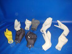 Lote de 10 manos Variadas maniquies buen estado