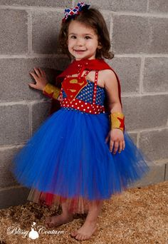 Super Girl Tutu Dress Halloween Costume by BlissyCoutureTutus