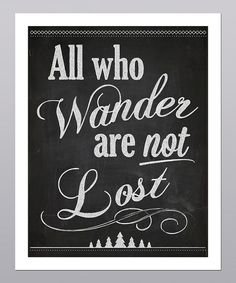 'All Who Wander' Typography Print