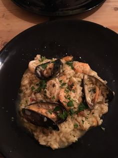 [Homemade] Seafood risotto: shallots wine fish stock mixed seafood and rice - easy! http://ift.tt/2hItb9a #TimBeta