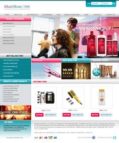 Proposed Layout for a Opencart System by eDesigners Best Rated, Hairdresser, Hair Extensions, Cart, Conditioner, Hair Accessories, Layout, Hair Styles, Shopping