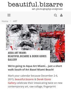 We're going to Aqua Art Miami- just a short walk South of Art Basel! Art Miami, Art Basel Miami, Derek Gores, David Burton, Miami Beach, Wearable Art, Home Art, Sculpture Art, Dave Thomas