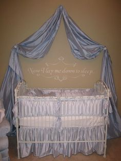 "Jamie Kirkpatrick designed this lovely blue boys chic nursery. Jamie says, "" I love the shabby chic look so when I found out I was having a boy I tried to incorporate that look in his room. We did not want to repaint his room because we are currently renting our house so I kept ...continue reading"