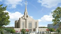 Artist's Rendering of the Ogden Utah Temple of The Church of Jesus Christ of Latter-day Saints - The Renovation was announced on February 17, 2010. #LDS #Mormons