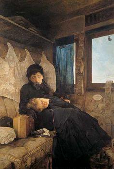 Raffaele Faccioli - Sad journey, 1882