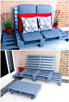 How To DIY Wooden Pallet Chillout Lounge - Pallet Projects - 150 Easy Ways to Build Pallet Projects - DIY & Crafts