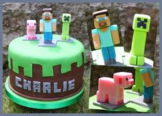 Snowballs in Summer: Let's get Minecrafting (cake) ... Steve and friends