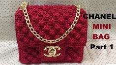 How to crochet CHANEL Mini Bag Part 1 - Hướng dẫn móc túi Chanel mini P1