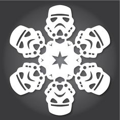Make Your Own 'Star Wars' Paper Snowflakes With These Free Printables - DesignTAXI.com