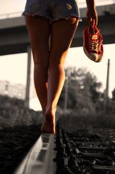 legs on rails Portrait Photography Poses, Photography Poses Women, Photo Poses, Boudoir Photography, Creative Photography, Poses Pour Photoshoot, Photoshoot Ideas, Shooting Photo Boudoir, Barefoot Girls
