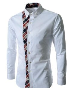 Cheap dress shirt folder, Buy Quality shirts from directly from China shirt dress pattern Suppliers: Personality Plaid Long-sleeve Size M-XXL Men Shirt Male Business V-neck Collar Casual Dress Shirt Work Wear Camisa Masculina African Shirts For Men, African Clothing For Men, African Men Fashion, African Fashion Dresses, Mens Fashion, Korean Fashion, Cheap Mens Shirts, Casual Shirts For Men, Printed Shirts