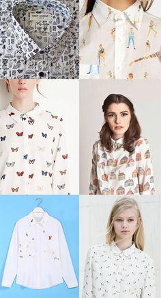 Adoro las camisas estampadas . No siempre me resulta fácil dar con diseños originales y diferentes (ya estoy un poco aburrida de cuadros... Fashion Wear, Diy Fashion, Fashion Outfits, Mens Smart Casual Outfits, Cute Outfits, Camisa Social Jeans, Beautiful Blouses, Beautiful Outfits, Funky Shirts