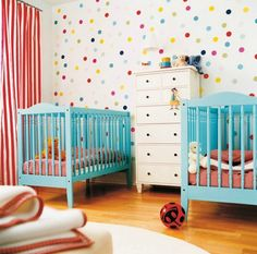Add a touch of playfulness to your kid's room with polka dot walls.