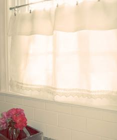 • Prairie Cottage •: :: Dollar Tree Cafe Curtain ::