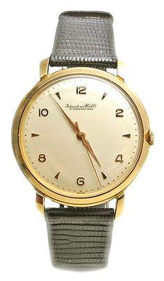 INTERNATIONAL WATCH CO 18K GOLD DRESS WATCH CIRCA 1950 reliable wrist watch
