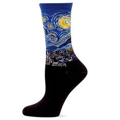"""Art lovers will surely """"van Gogh"""" for these crew socks!"""