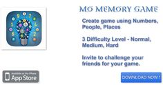 Want to play some cool new memory game? Play our #MOMemoryGame design specifically for iPad and iPhone. Create and play the game in both online and offline mode.