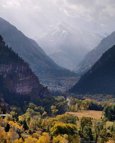 ❥ Ouray Valley Autumn~ I love Ouray, Colorado. We named our Aussie after this beautiful place. Ouray Jake.