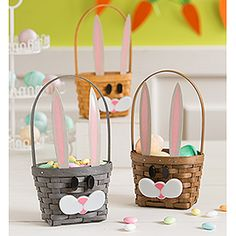 Bunny Treats!  Removable ears and face for year round use.  So cute!  Limited time offer.  #longaberger #easter #bunny #basket