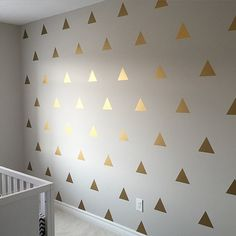 Want a fast way to make a huge visual impact on your walls? Our vinyl triangle decals is your ticket. Each triangle measures approximately 3 tall by