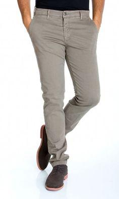 HAMAKI-HO | Pantaloni HAMAKI-HO Cotone Stretch Fashion Fit Col. Fango su Dursoboutique.com PS614H
