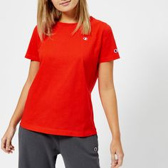Buy Champion Women's Logo Short Sleeve T-Shirt - Red We've got top products at great prices including fashion, homeware and lifestyle products. Free delivery available
