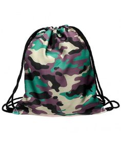 c14b904a6b 3D Print Drawstring Backpack Rucksack Shoulder Bags Gym Bag- Camouflage -  Camouflage - CC12JQRSQ5F
