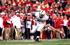 PENN STATE – FOOTBALL 2013 – ADAM BRENEMAN catches pass on fourth play of game, breaks tackle and dashes 68 yards on Penn State's longest scoring play of the year.