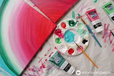 See how great the new line of Deco Art Americana Premium Paints blend together to create a beautiful watermelon canvas art this summer! Art For Kids, Crafts For Kids, Arts And Crafts, Kids Canvas, Canvas Art, Diy Craft Projects, Diy Crafts, Craft Ideas, Americana Paint