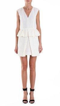 Tess Jacquard Peplum Dress- need it