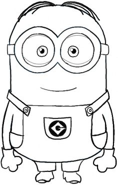 printable the minions dave coloring page for kids.free