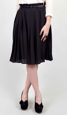 chiffon pleated midi skirt.